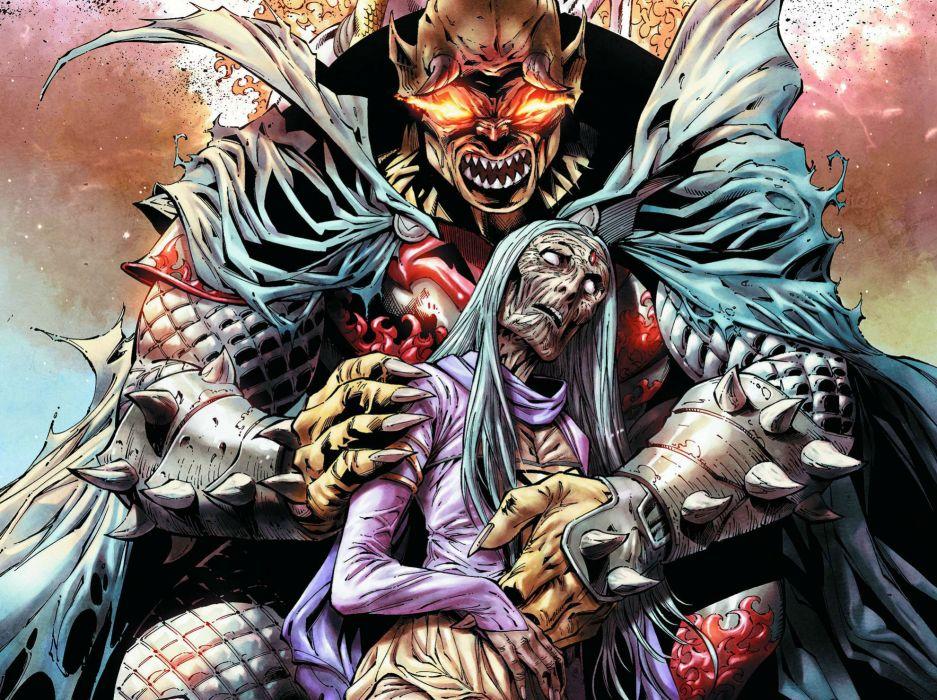 Demon Knights Dc Comics D C Fantasy Dark Hw Wallpaper