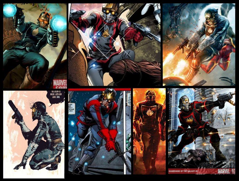 GUARDIANS OF THE GALAXY marvel superhero starlord wallpaper