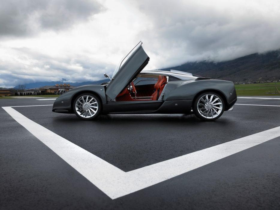 2007 Spyker C12 Zagato supercar interior          h wallpaper