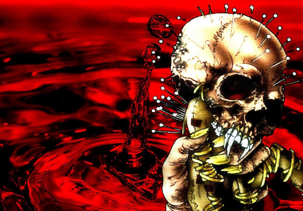 Metallica Thrash Metal Heavy Album Cover Art Dark Skulls