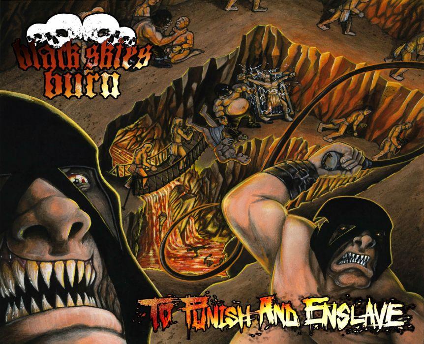 BLACK SKIES BURN thrash metal heavy dark      f wallpaper