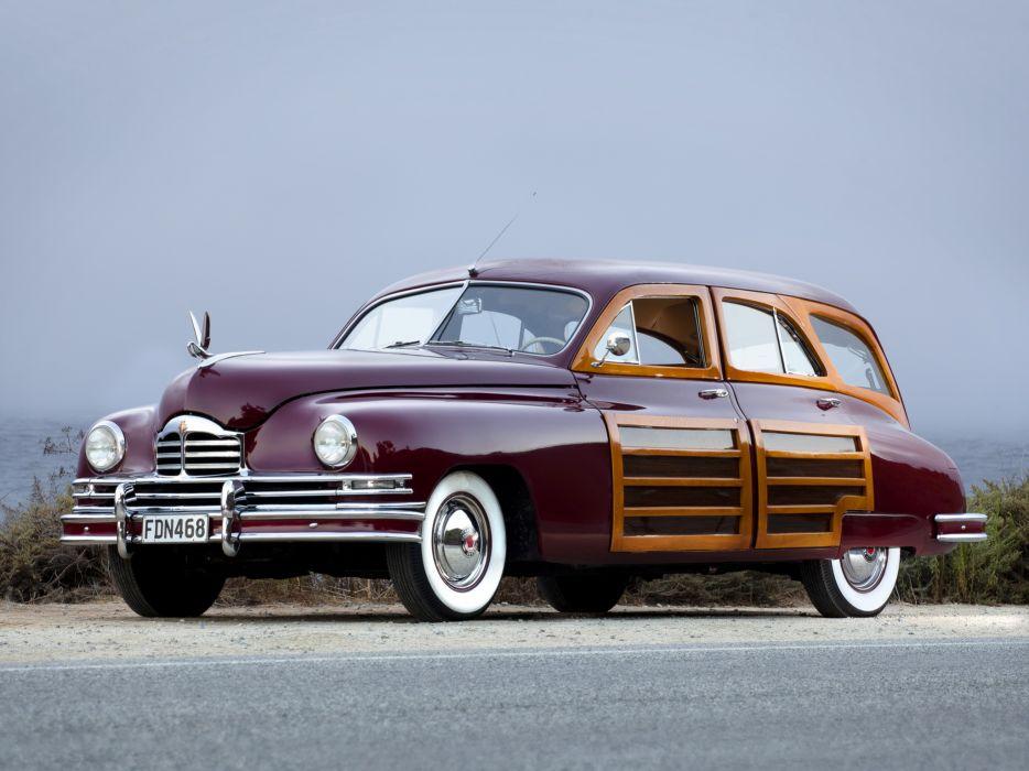 1948 Packard Standard Eight Station Sedan 2201-2293 stationwagon retro luxury    hw wallpaper