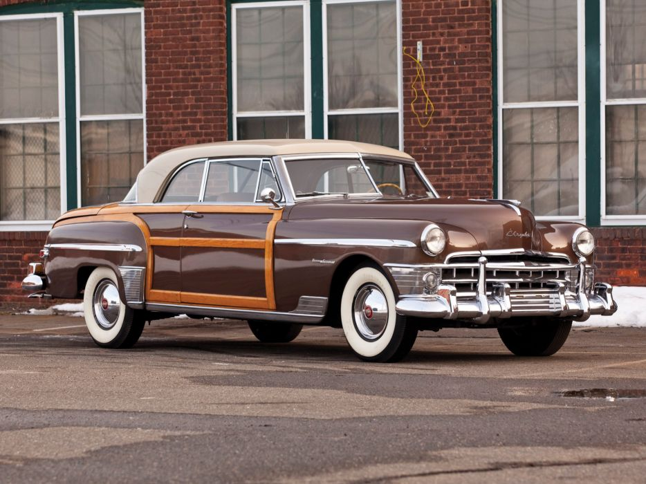 1950 Chrysler New Yorker Town Country Newport Coupe C49N retro  j wallpaper