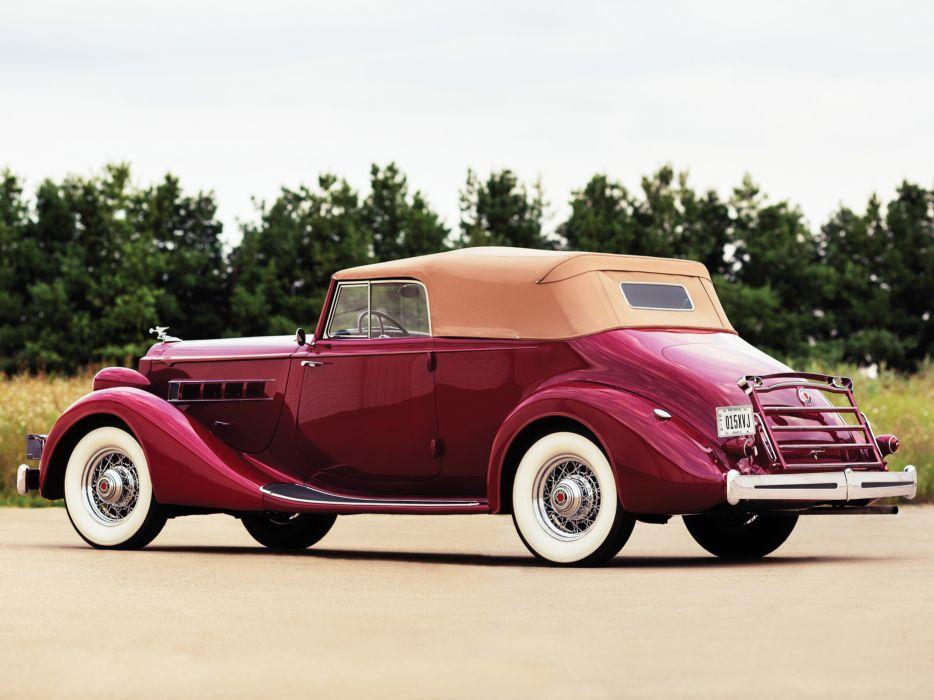 1935 Packard Eight Convertible Victoria 1201-807 retro luxury     h wallpaper