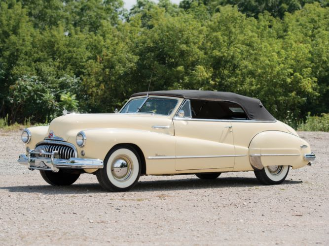 1947 Buick Roadmaster Convertible 76C luxury retro g wallpaper