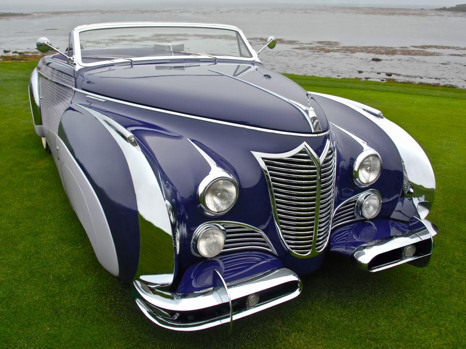 1948 Cadillac Sixty-Two Convertible Saoutchik luxury retro wallpaper