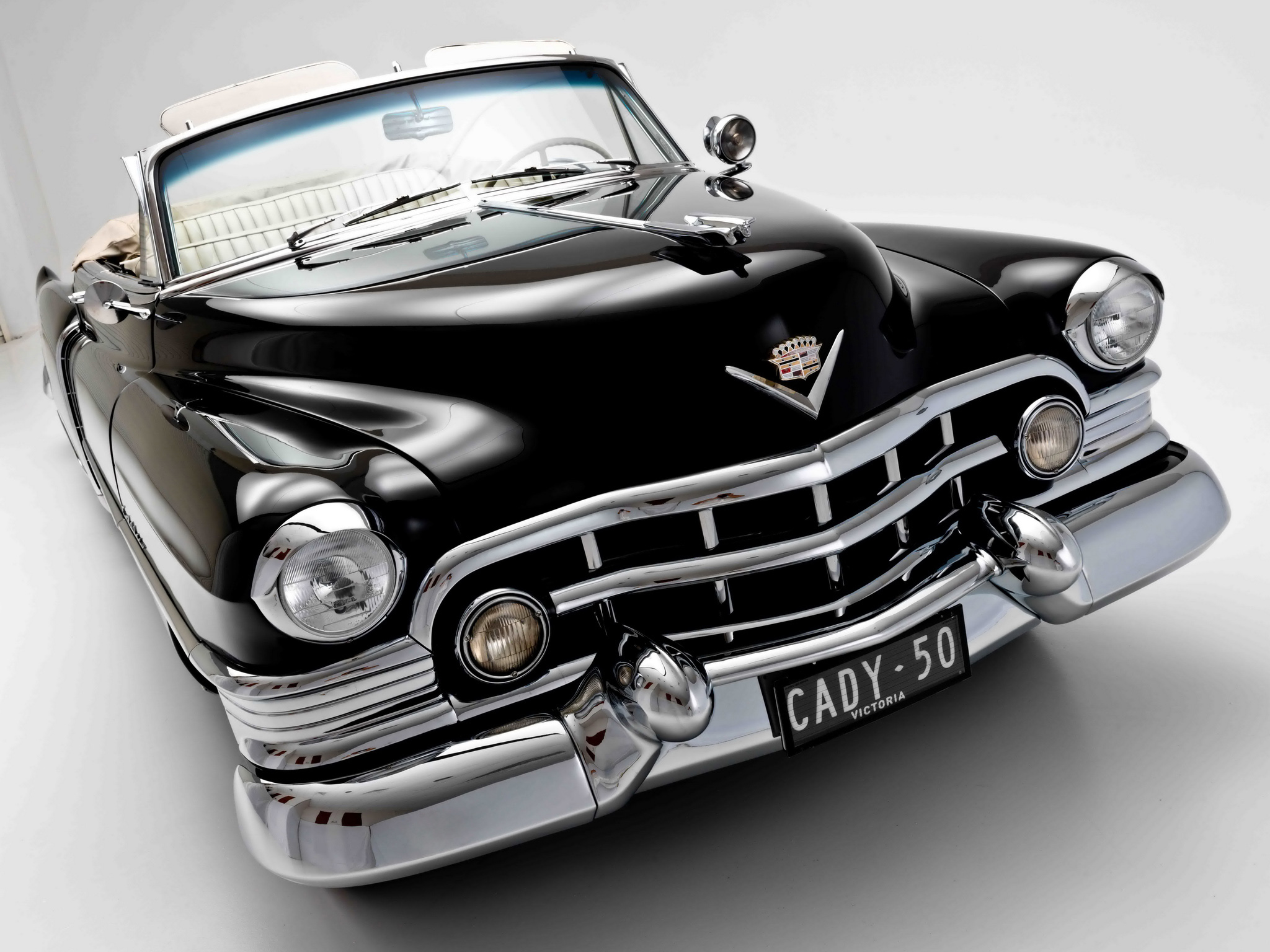 1950 Cadillac Sixty Two Convertible 6267 Luxury Retro F Wallpaper
