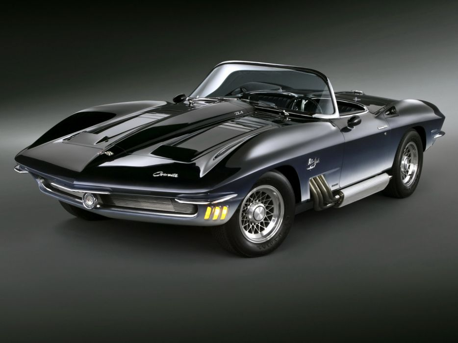 1962 Chevrolet Corvette Mako Shark Concept supercar muscle hot rod rods  f wallpaper