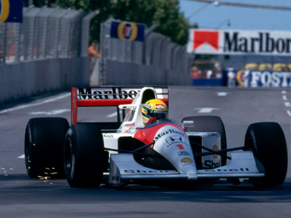 1991 McLaren Honda MP4-6 formula one f-1 race racing  r wallpaper