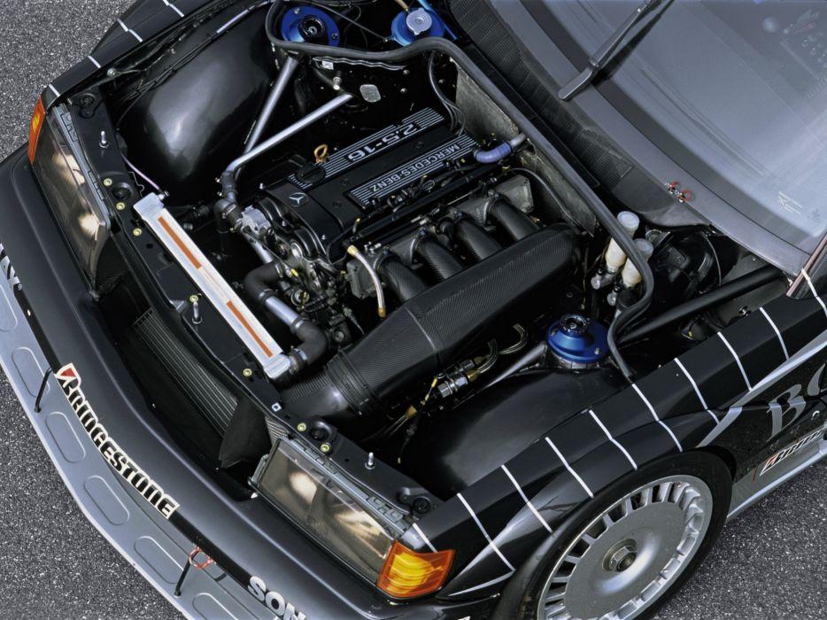 1991 Mercedes Benz AMG 190 Evolution I-I DTM W201 race racing engine        g wallpaper