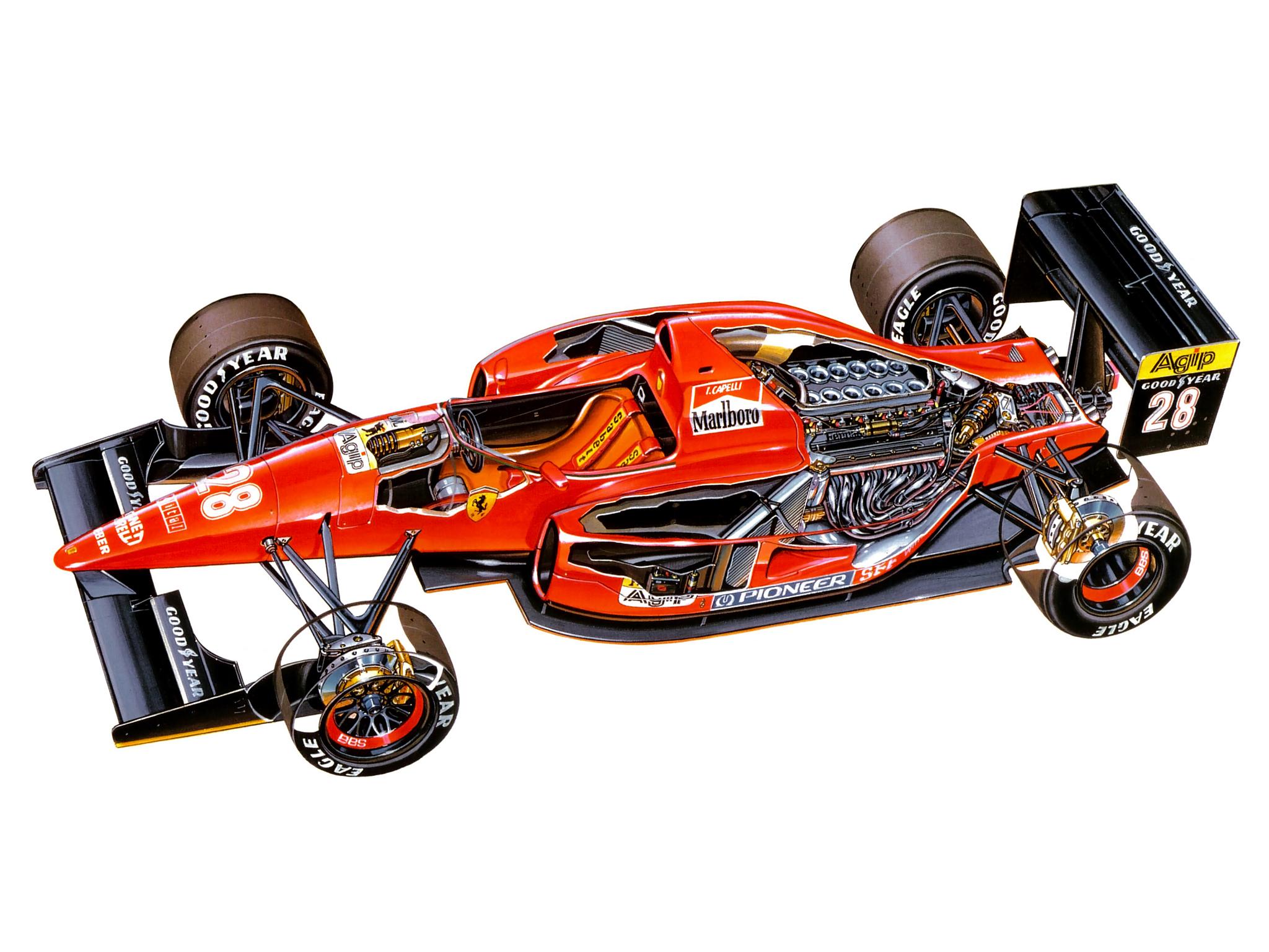 1992 ferrari f92a formula one f 1 race racing engine interior g wallpaper 2048x1536 141293. Black Bedroom Furniture Sets. Home Design Ideas