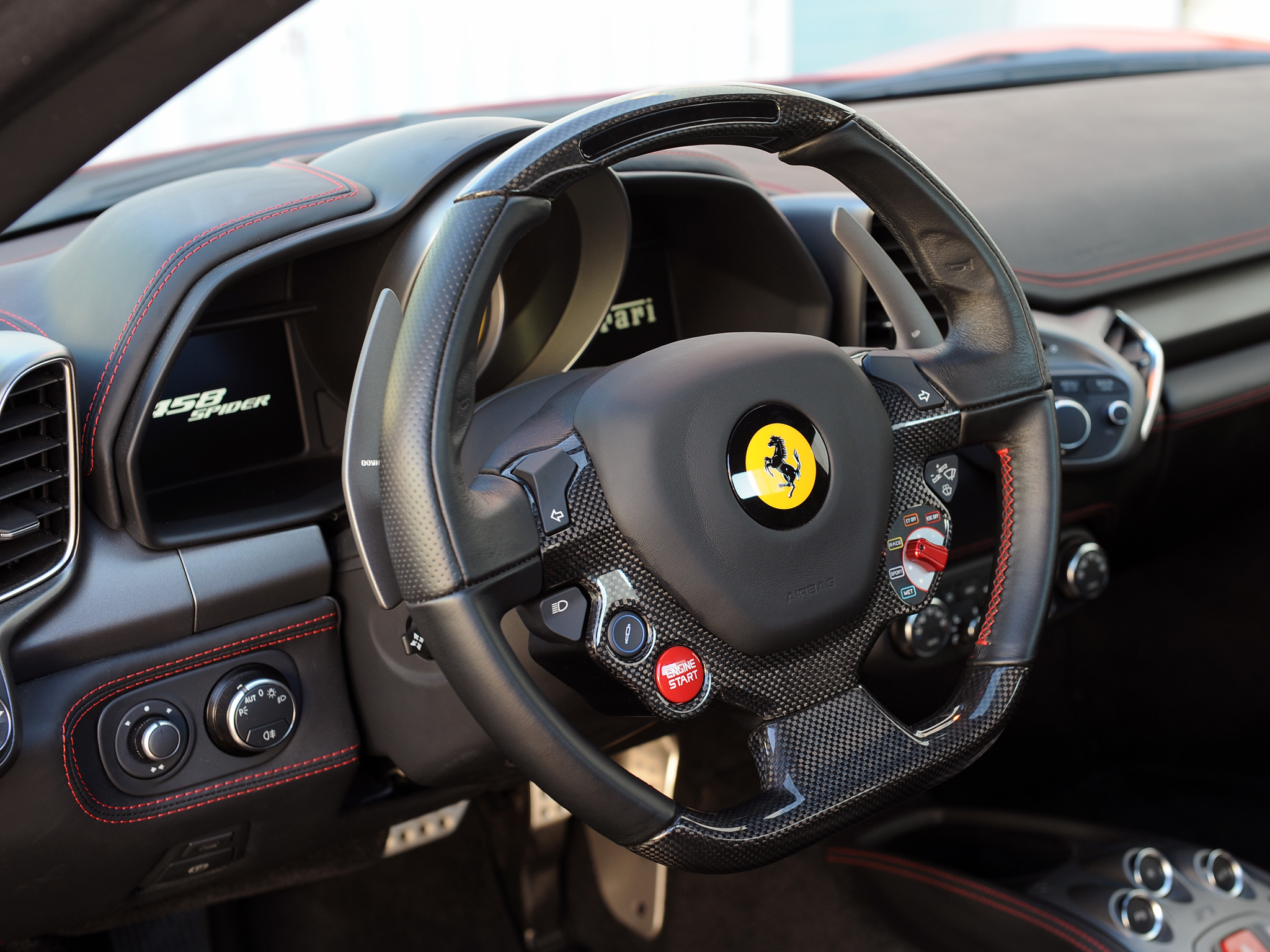 2013 Hennessey Ferrari 458 Spider Hpe700 Twin Turbo Supercar Interior G Wallpaper 2048x1536 141531 Wallpaperup