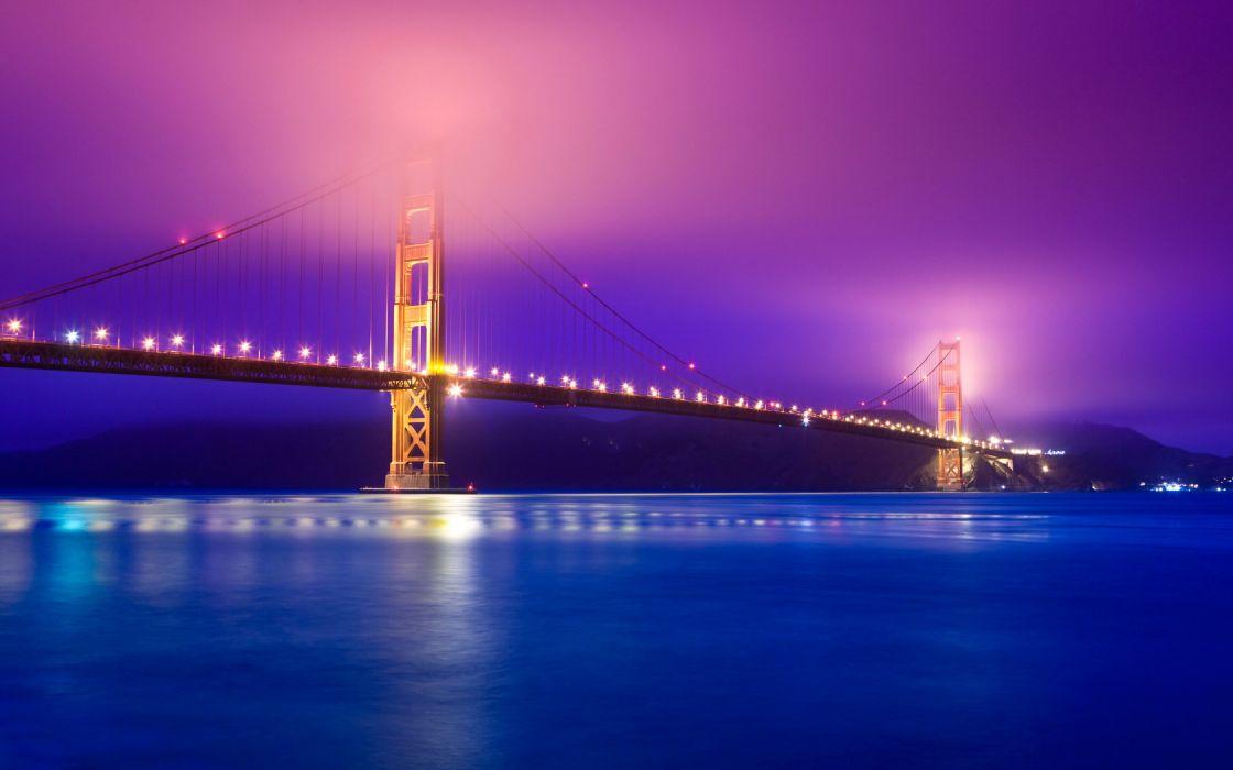 Golden Gate Bridge Fog San Francisco Bay Pacific Ocean USA wallpaper