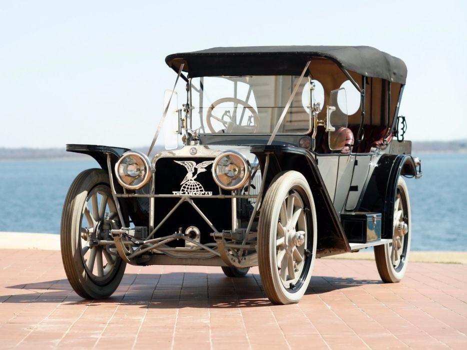 1914 American Model-644 Touring retro wallpaper