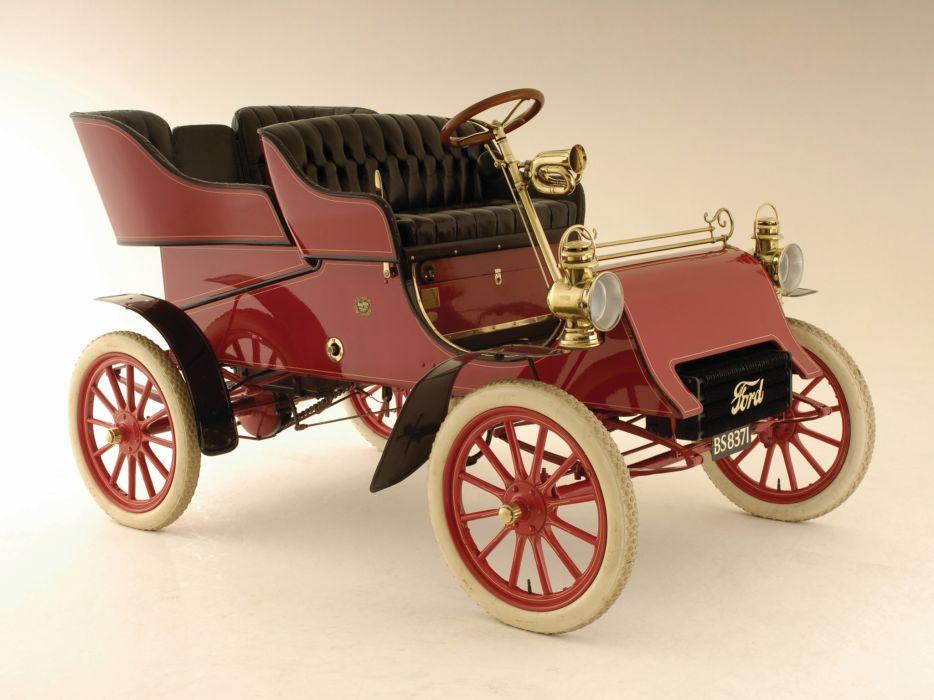 1903 Ford Model-A Tonneau retro  g wallpaper