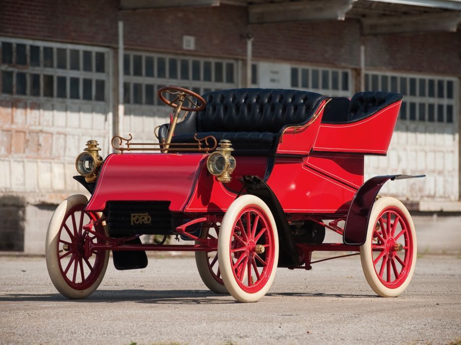 1903 Ford Model-A Tonneau retro f wallpaper