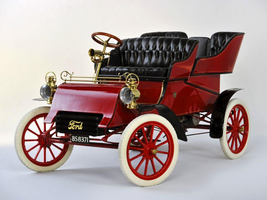 1903 Ford Model-A Tonneau retro wallpaper