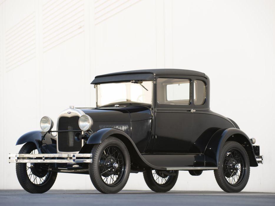 1927 Ford Model-A 5-window Coupe 45A retro wallpaper