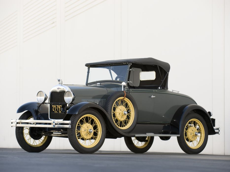 1927 Ford Model-A Roadster retro   h wallpaper