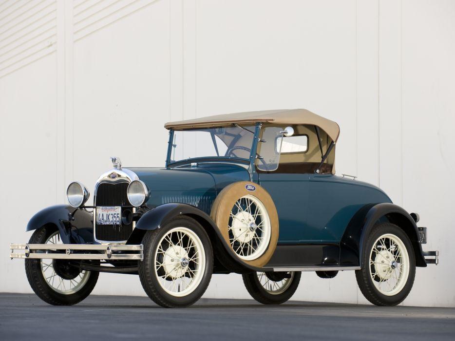 1927 Ford Model-A Roadster retro wallpaper