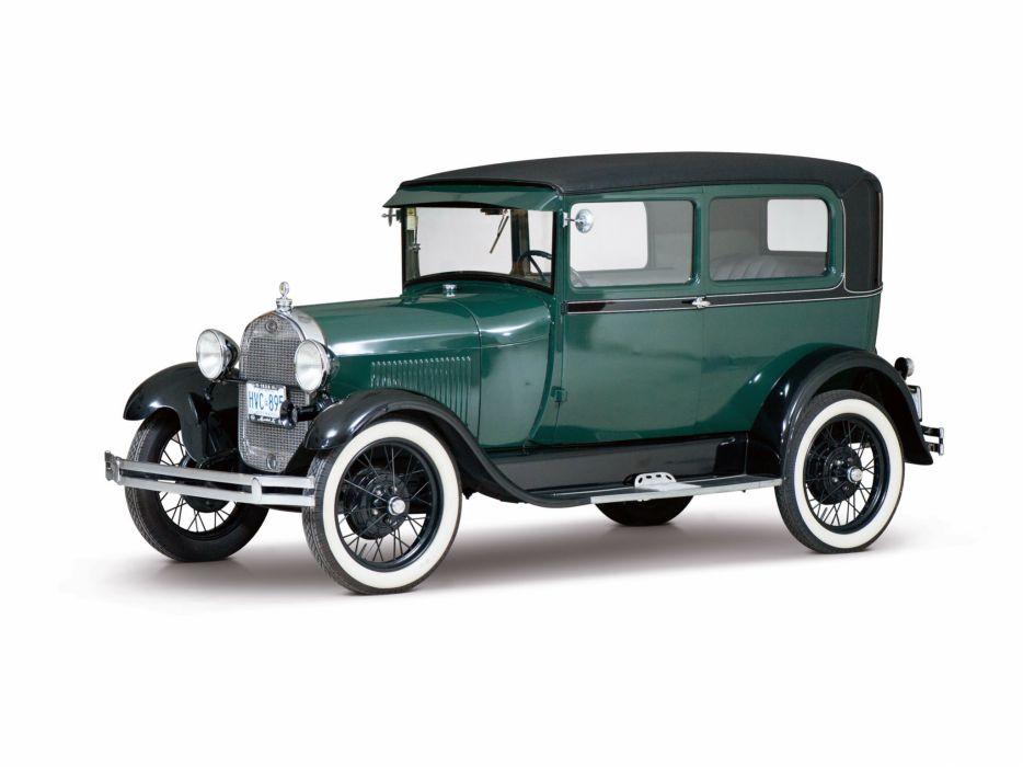 1927 Ford Model-A Tudor Sedan 55D wallpaper
