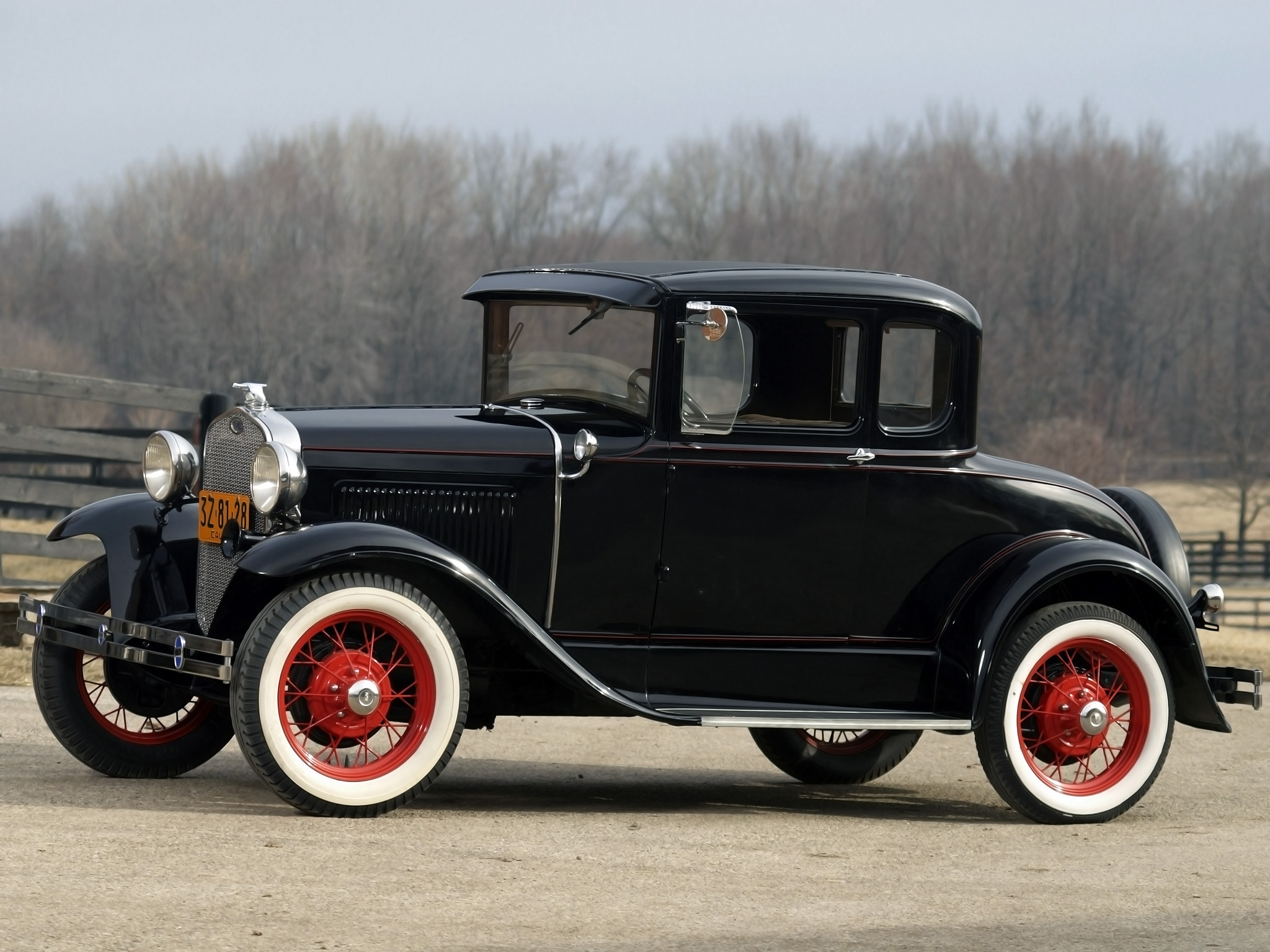 1930 ford model a 5 window coupe 45b retro f wallpaper