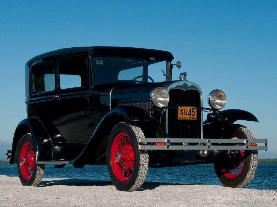 1930 Ford Model-A Tudor Sedan 55B retro  h wallpaper