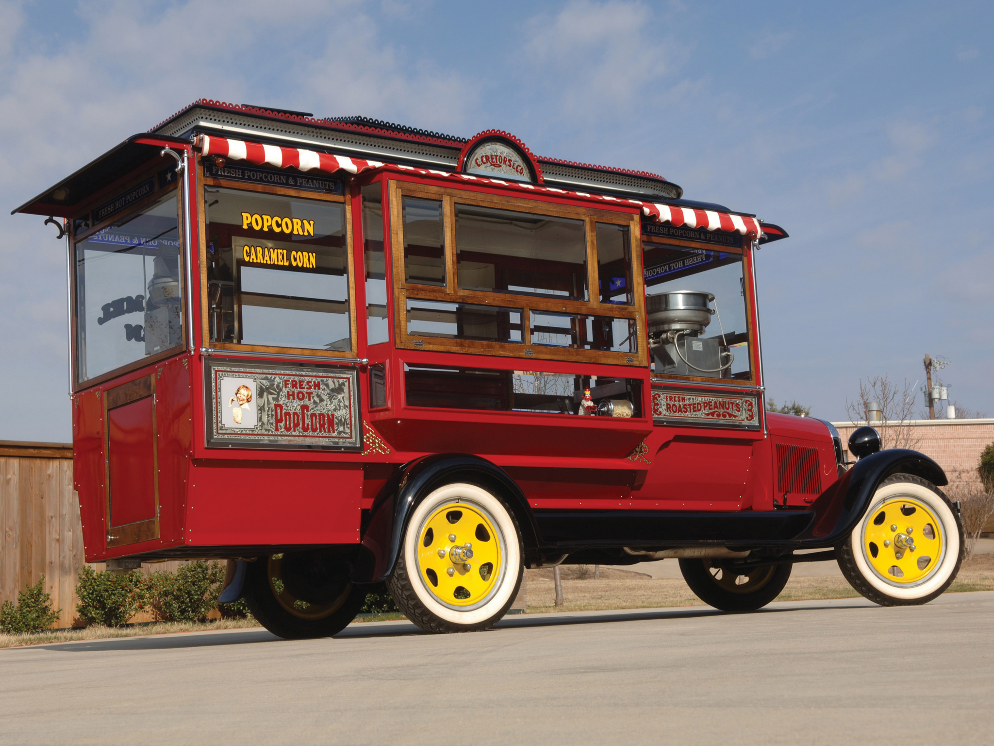1929 Ford Model-AA Popcorn Truck Cretors Retro Food
