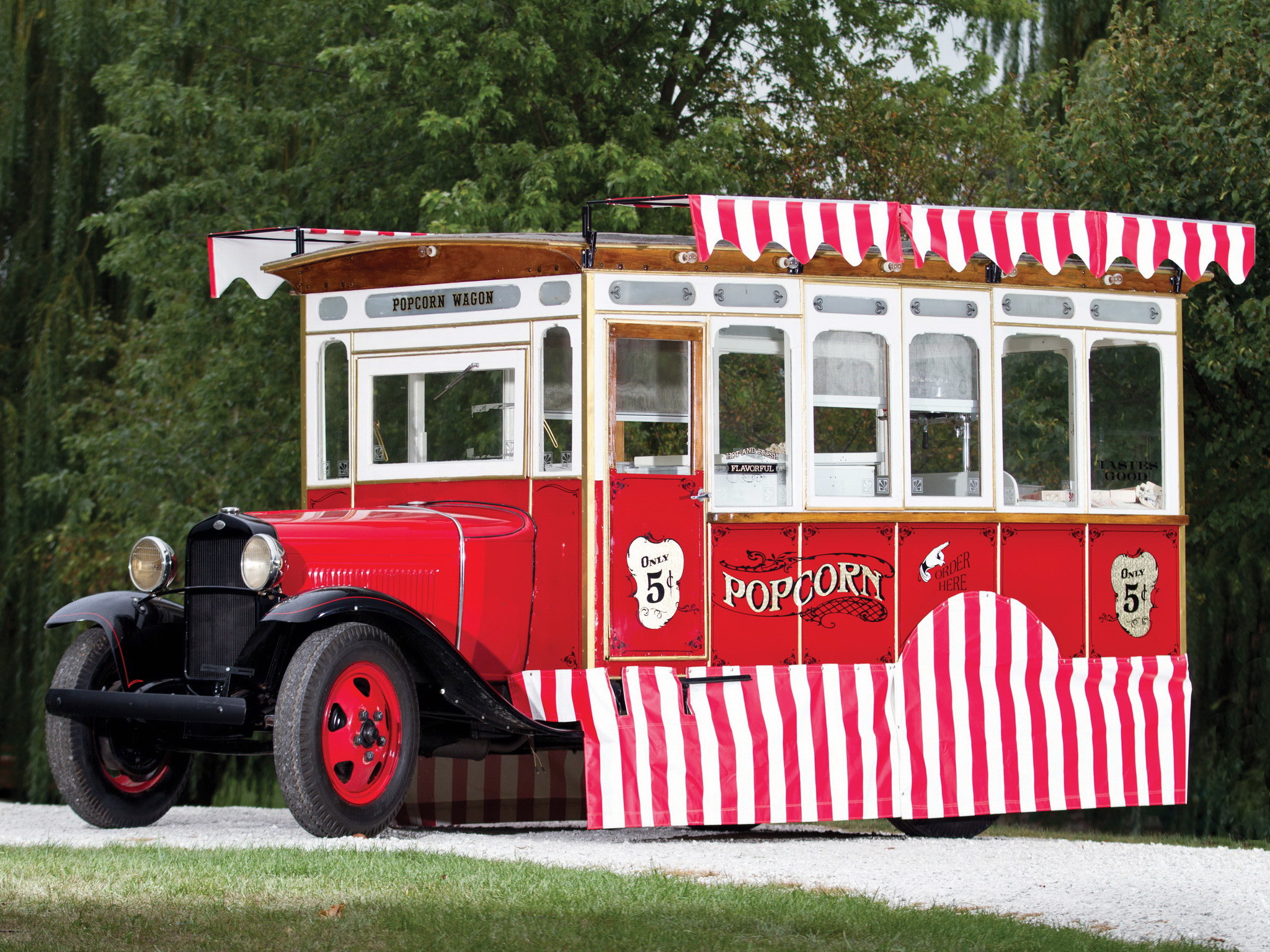 1930 Ford Model-AA Popcorn Truck Cretors Retro Food G