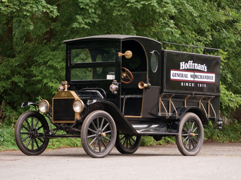 1917 Ford Model-T Peddlers Wagon retro transport wallpaper