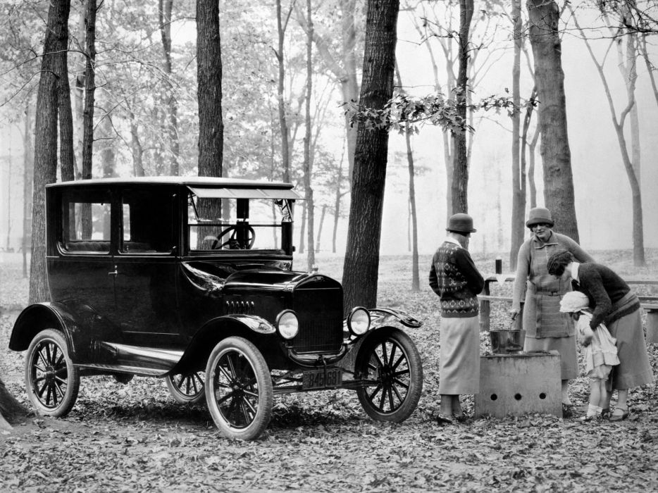1923 Ford Model-T Tudor Sedan retro wallpaper
