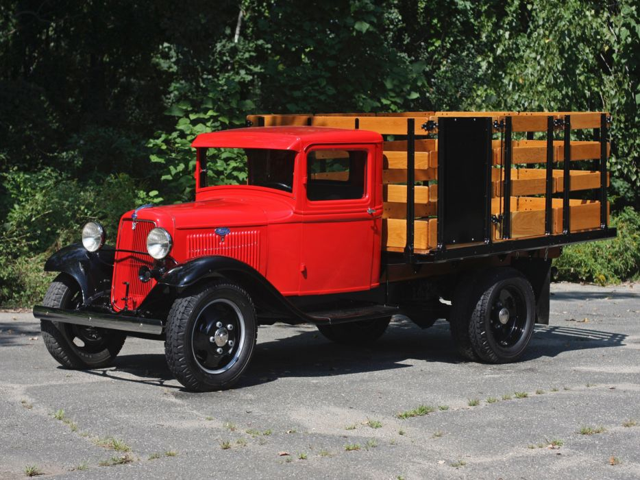 1934 Ford Model-BB Stake Truck retro  h wallpaper
