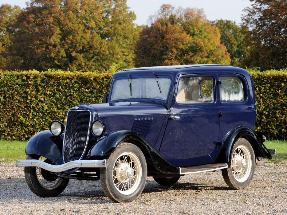 1933 Ford Model-Y Tudor Saloon retro wallpaper