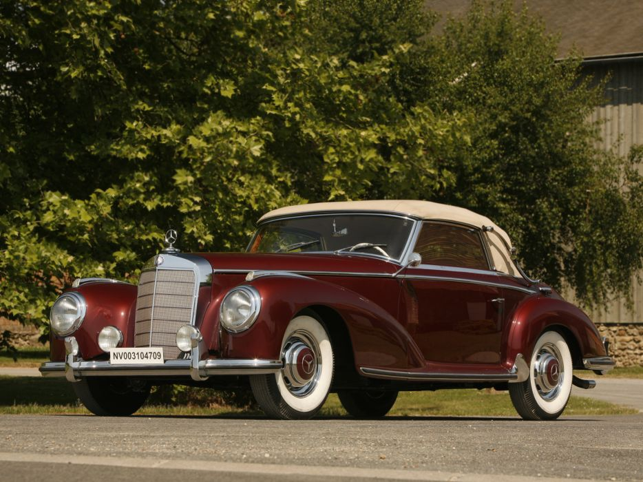 1951 Mercedes Benz 300-S Cabriolet A W188 retro luxury    d wallpaper