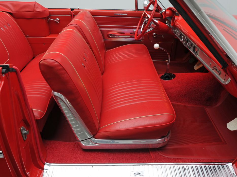 1963 Ford Galaxie 500 Sunliner 6-5 convertible classic interior         h wallpaper