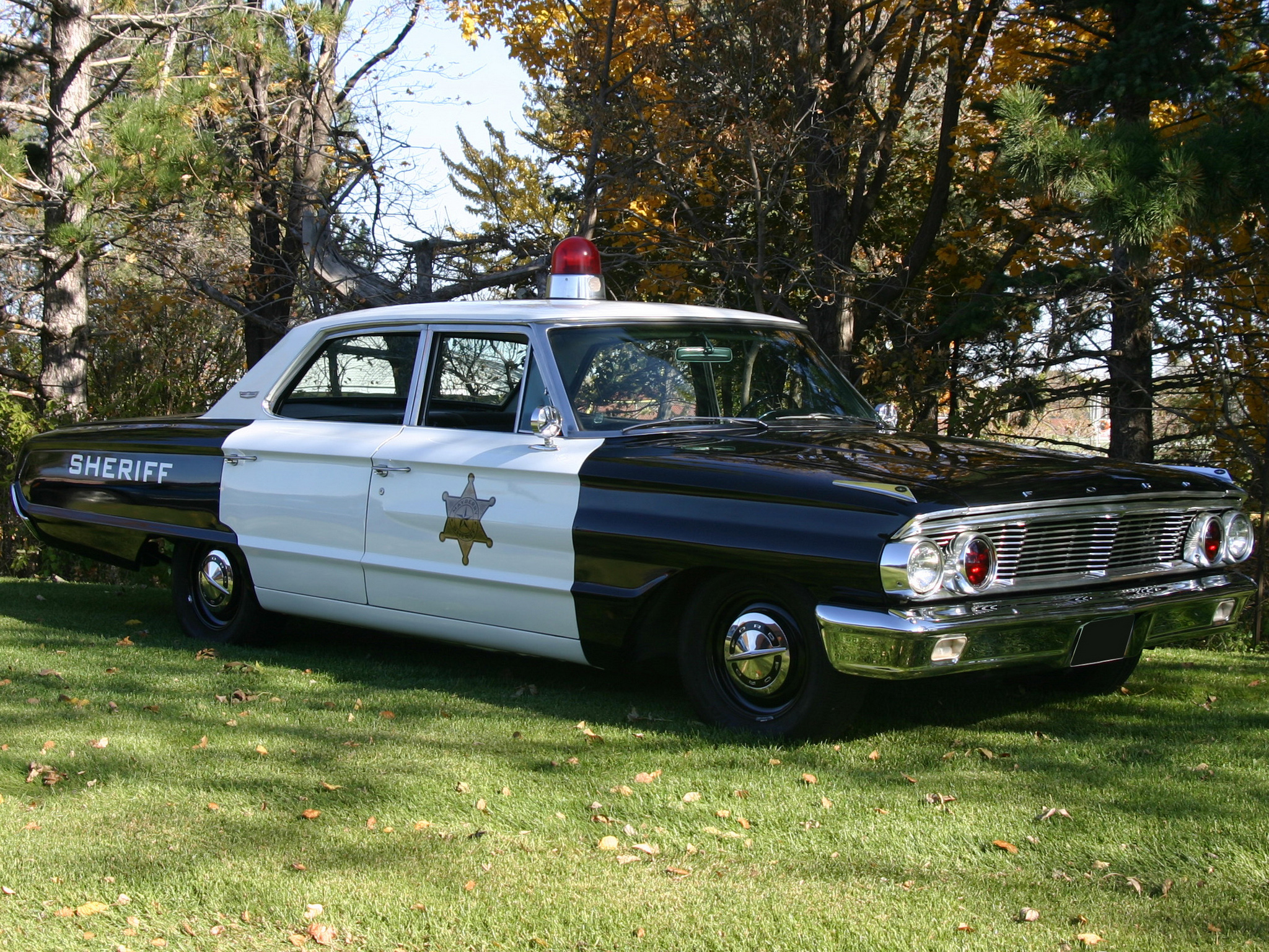 1964 Ford Galaxie 500 4 Door Sedan Police Classic Wallpaper