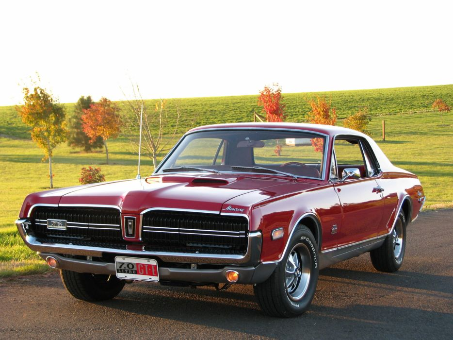 1968 Mercury Cougar 427 GT-E 65A muscle classic wallpaper