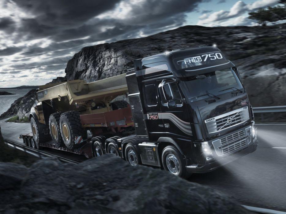 2011 Volvo FH16 750 8x4 tractor semi rig    f wallpaper