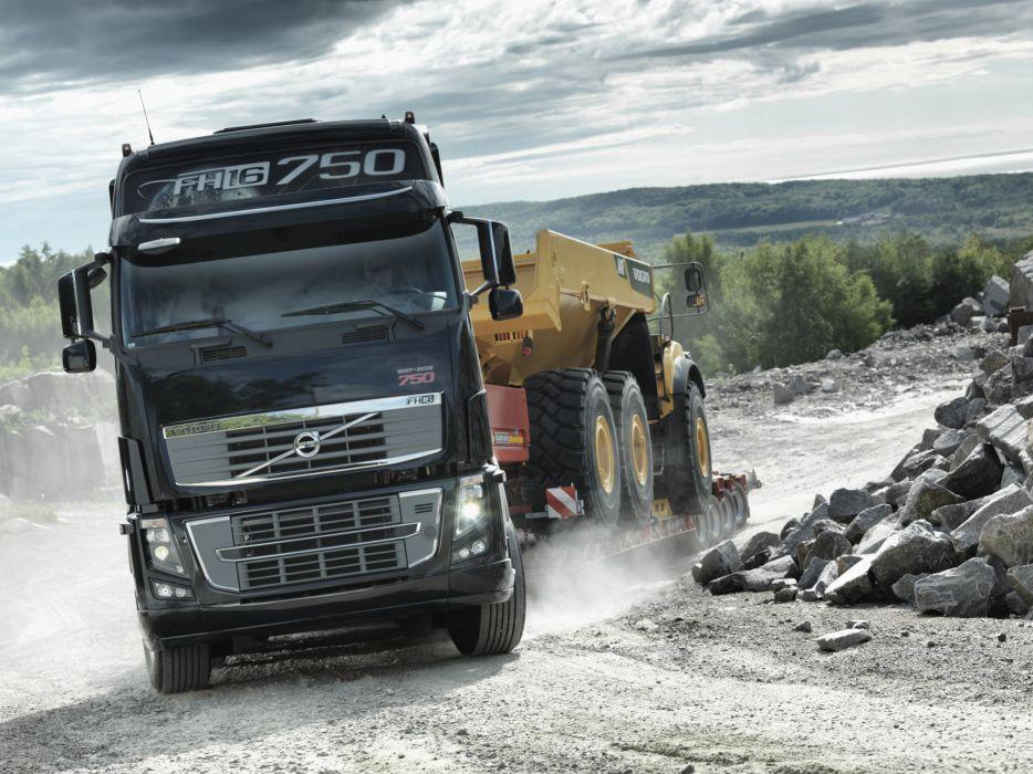 2011 Volvo FH16 750 8x4 tractor semi rig wallpaper