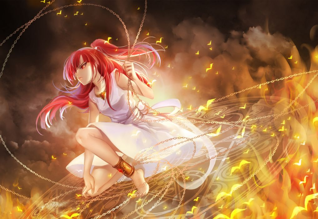 magi the labyrinth of magic barefoot dress huazha01 magi the labyrinth of magic morgiana red eyes red hair wallpaper