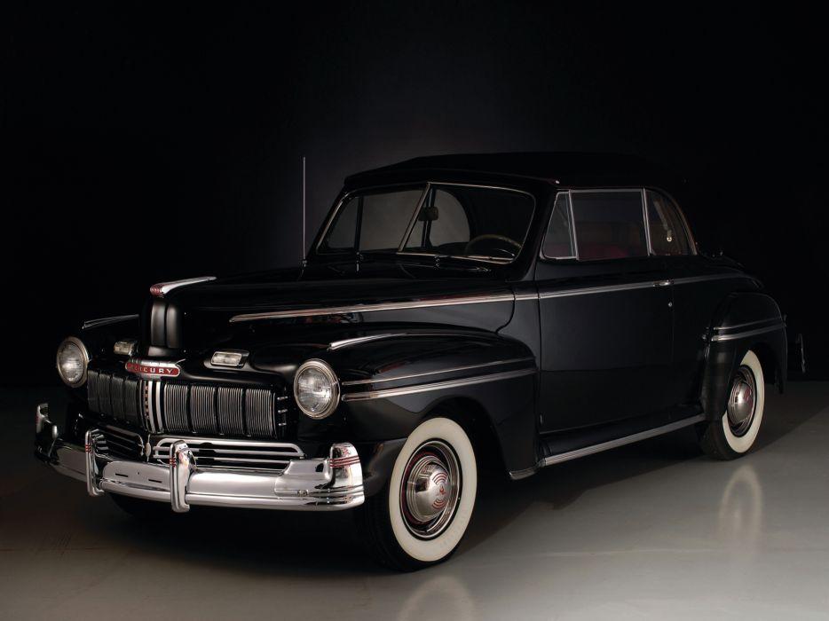 1946 Mercury Eight Club Convertible 69M-76 retro wallpaper
