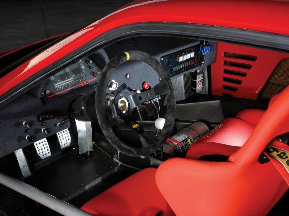 1988 Ferrari F40 Classic Supercar Race Racing Interior G Wallpaper