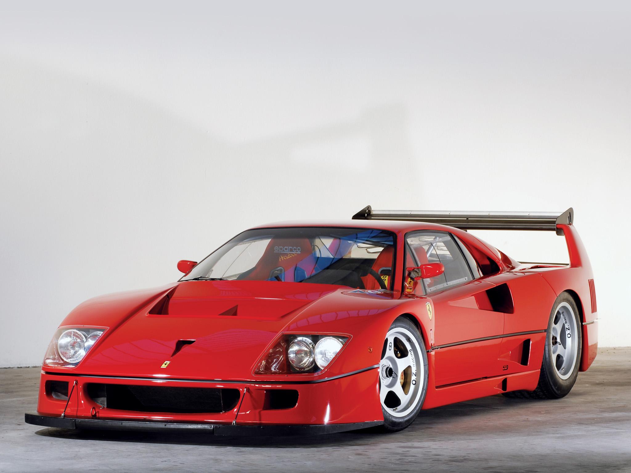 1988 Ferrari F40 Classic Supercar Race Racing Wallpaper