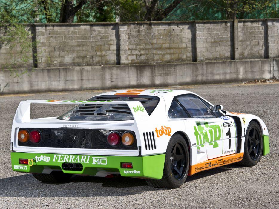 1989 Ferrari F40 G-T race racing supercar   f wallpaper