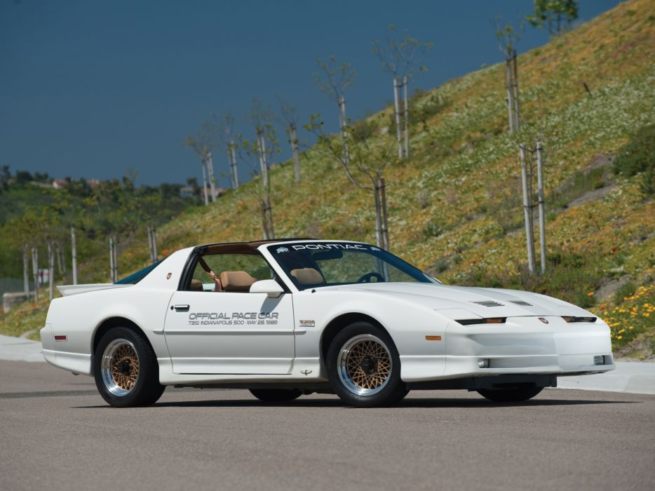 1989 Pontiac Firebird Trans-Am Turbo Indy 500 Pace muscle race racing classic   g wallpaper