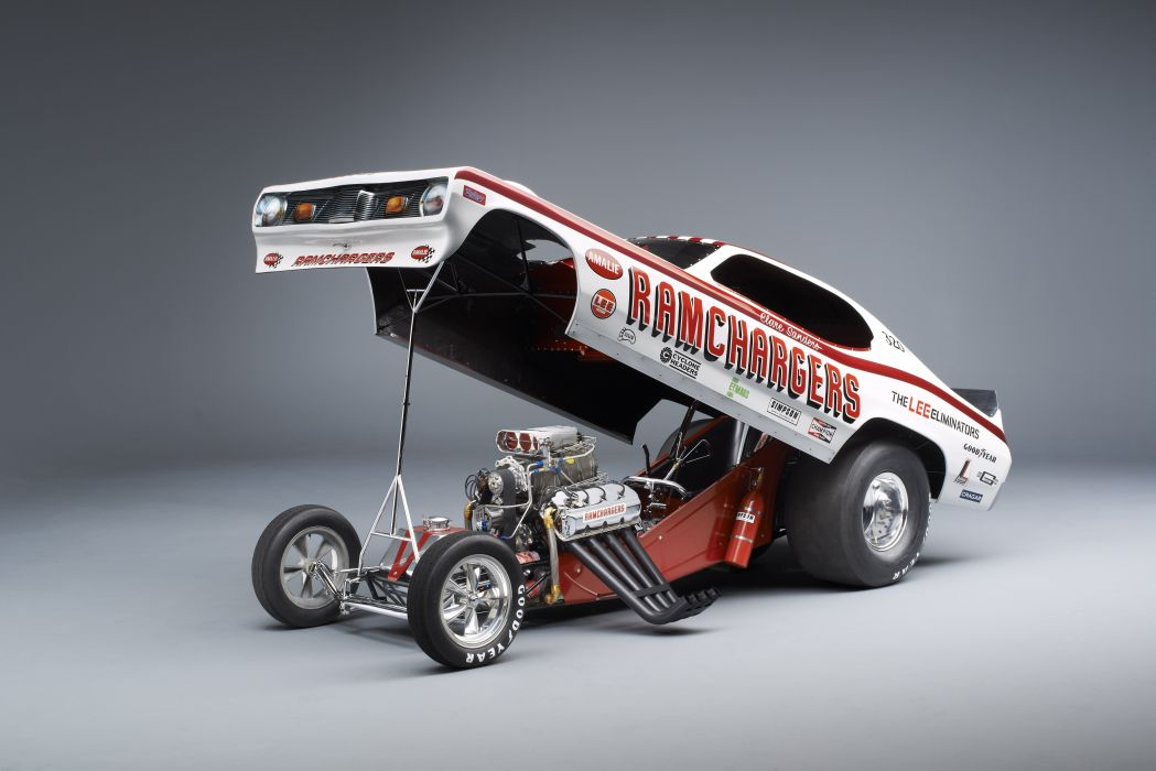 NHRA drag racing race funny-car funny hot rod rods 1972 dodge Demon engine wallpaper