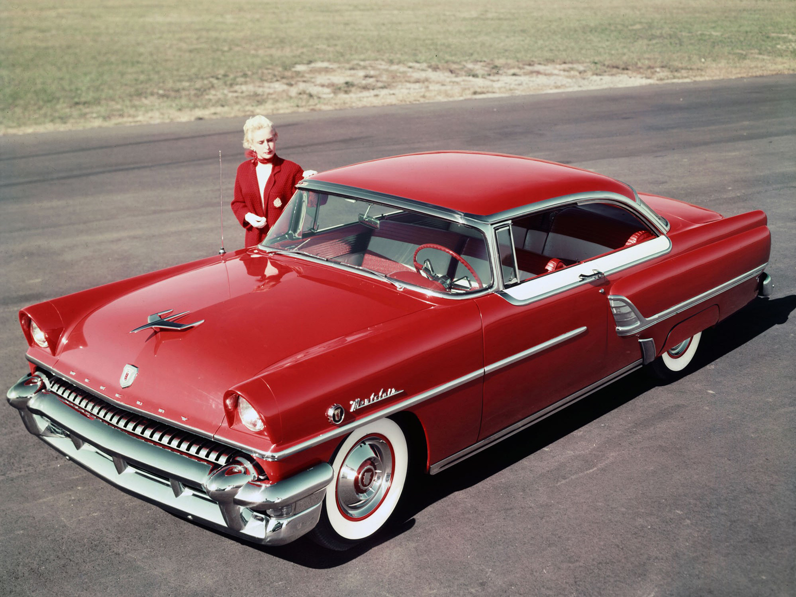 1955 Mercury Montclair Convertible Red With White Interior Images