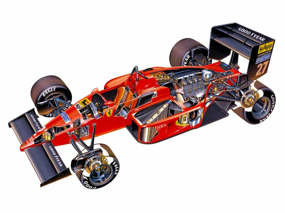 1987 Ferrari F187 formula one f-1 race racing j wallpaper