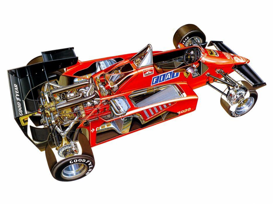 1984 Ferrari 126C4 formula one f-1 race racing  g wallpaper