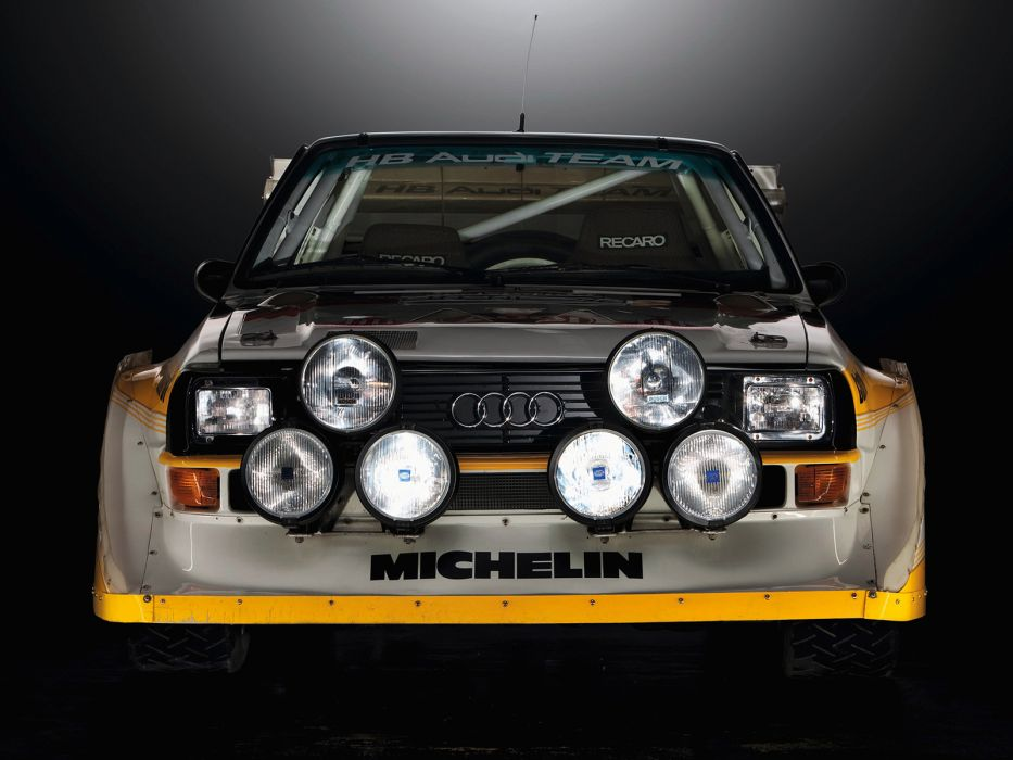 1985 Audi Sport quattro S-1 Group-B Rally race racing    h wallpaper